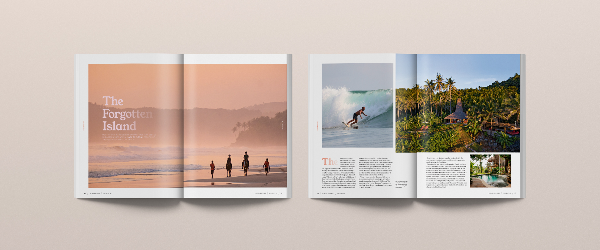 Luxury Escapes Travel Print Magazine spreads