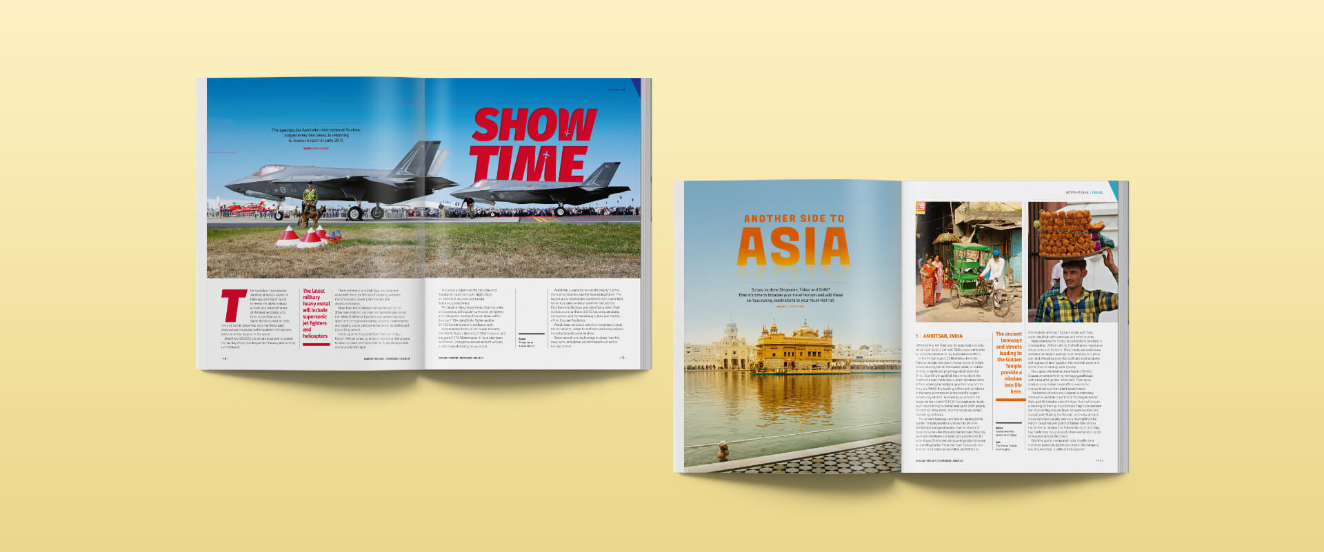 Avalon Inbound Outbound Travel and Lifestyle Magazine spreads