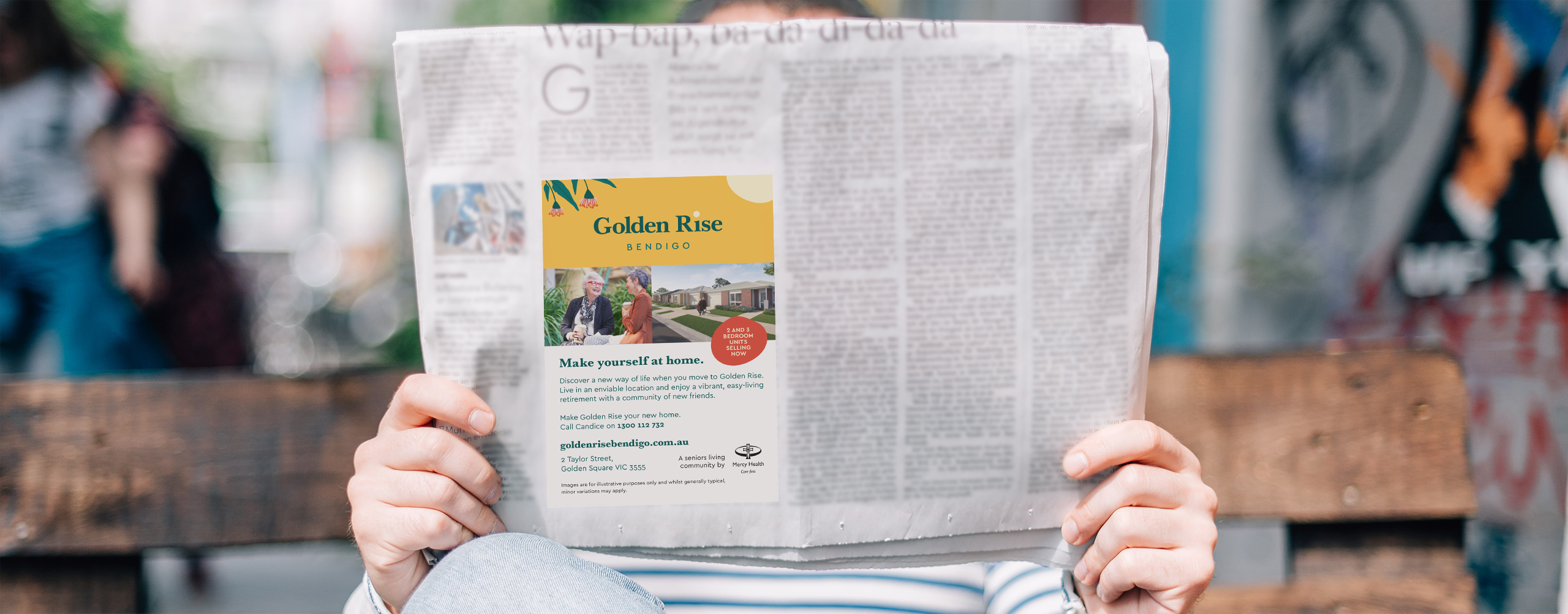 Mercy Health Golden Rise Property Marketing Newspaper Ad